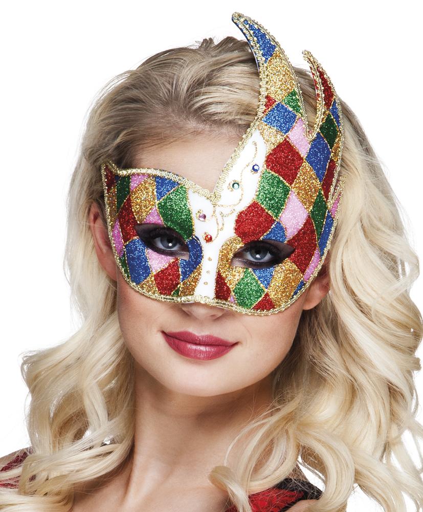 Oogmasker Venice jester