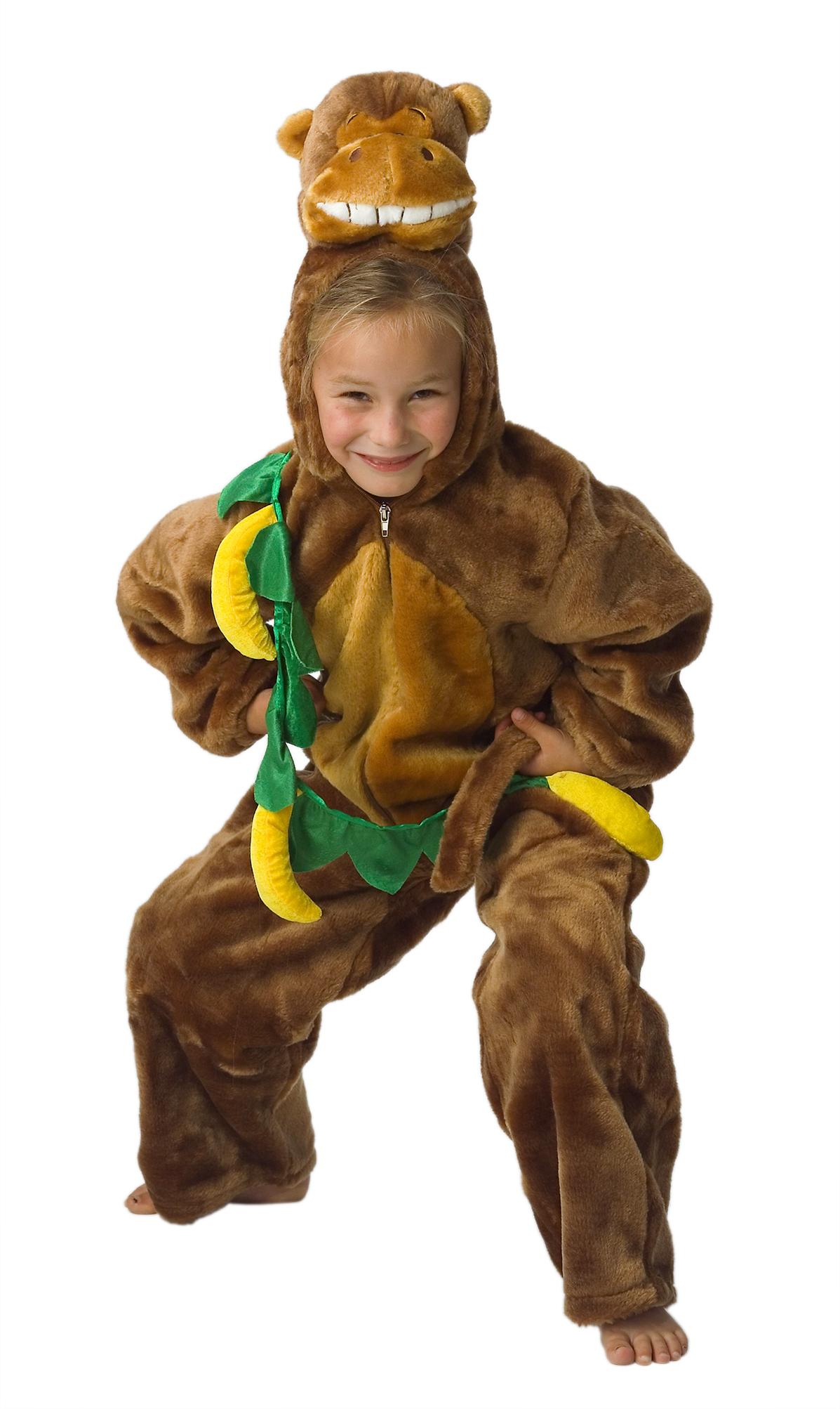 Aap kostuum pluche voor kind met bananen