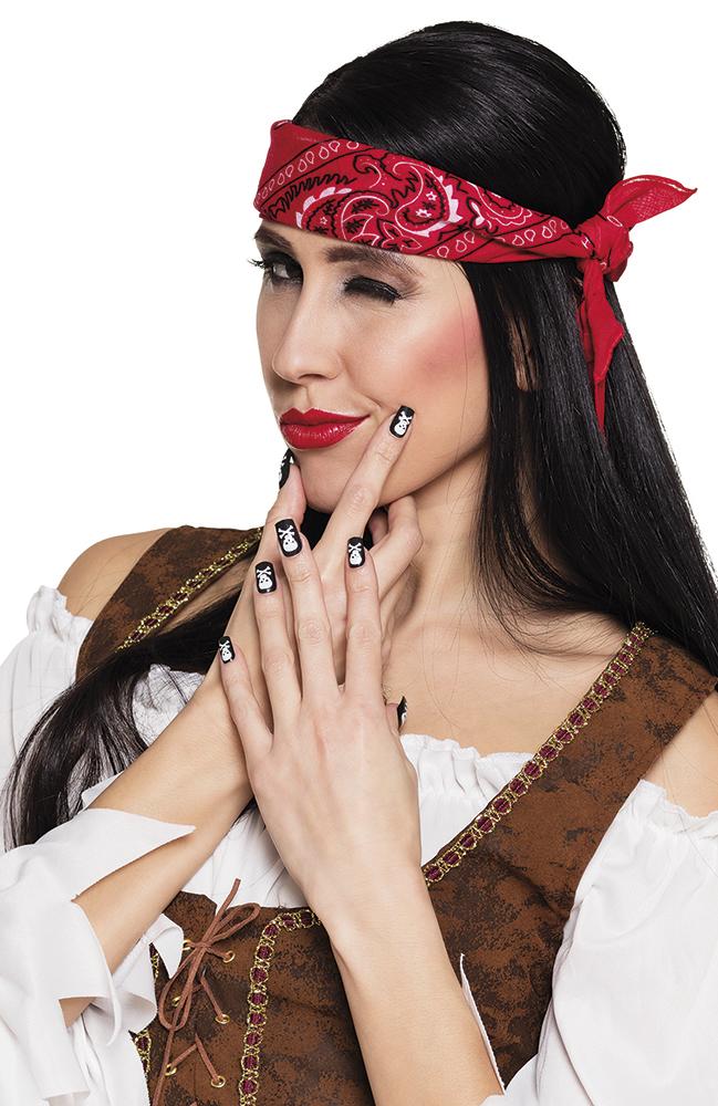 Nagels piraat set van 24 stuks
