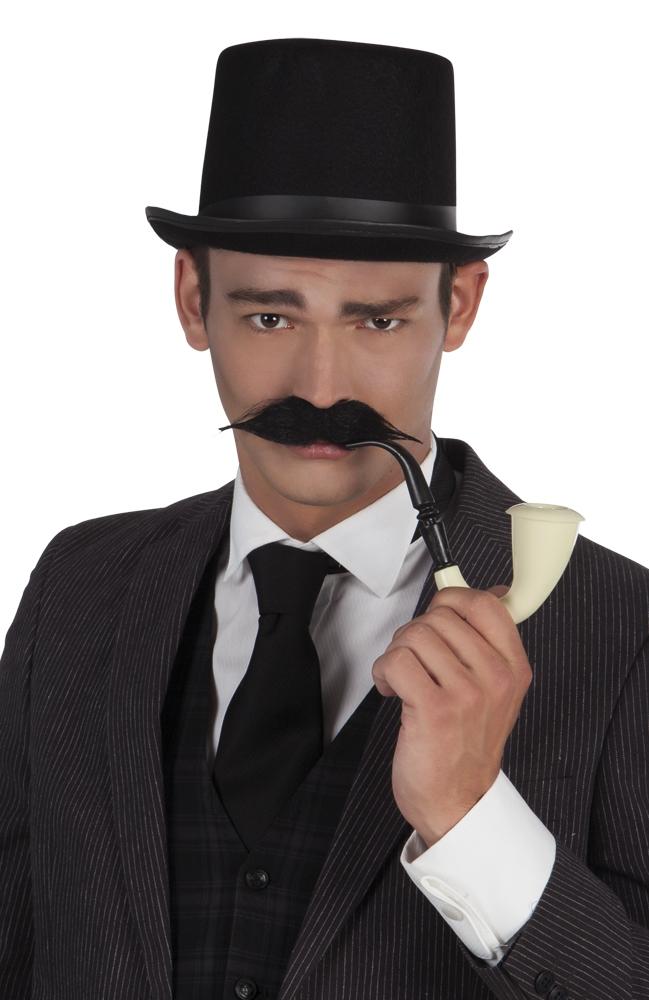 Snor detective zwart