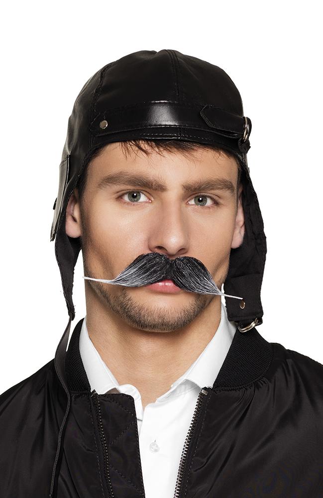 Snor piloot zwart/grijs