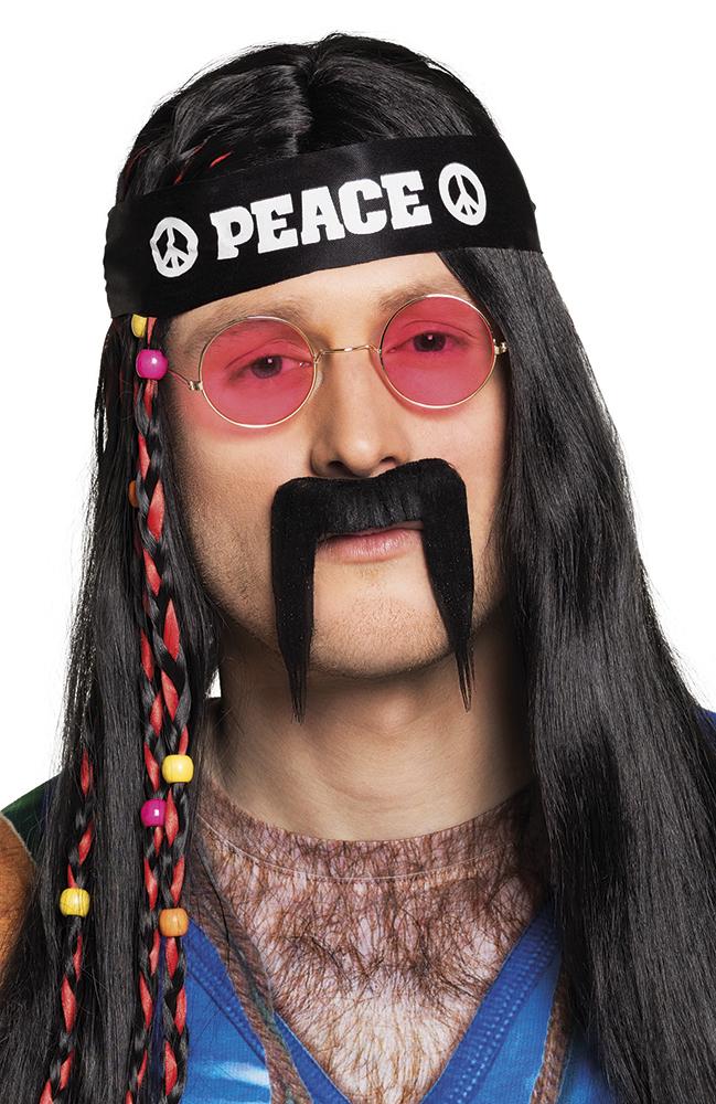 Snor peace zwart