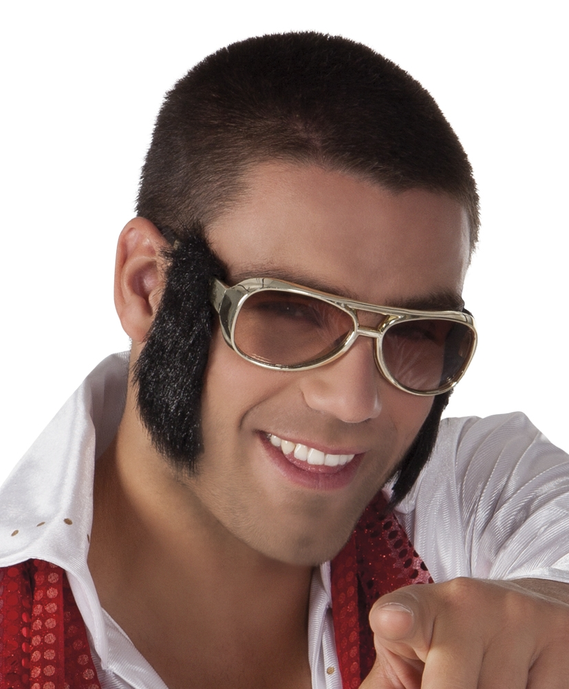 Partybril King of Rock'n Roll met bakkebaarden