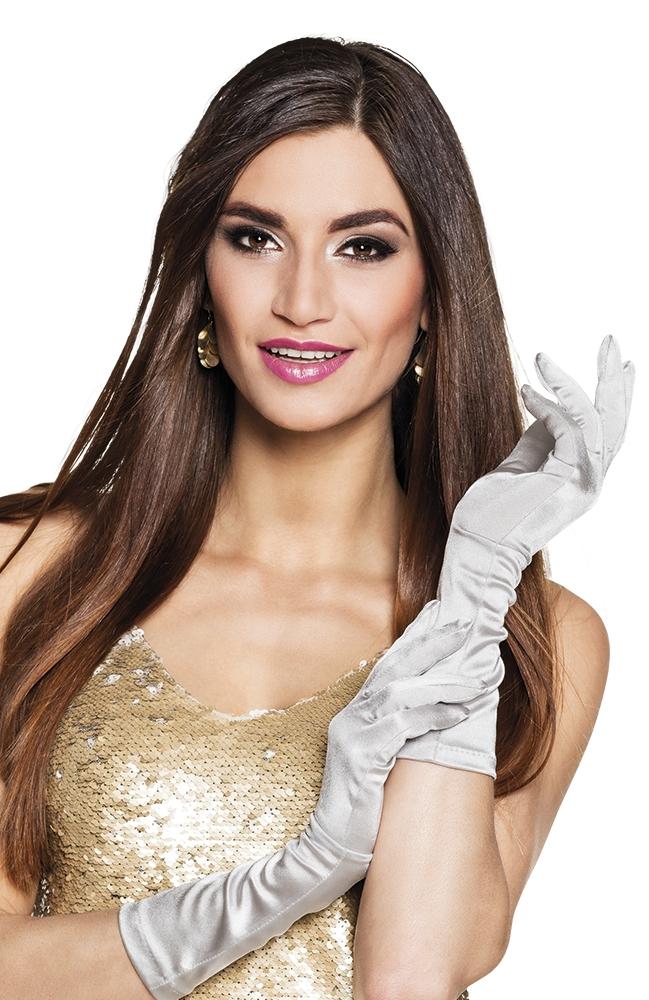 Handschoenen elleboog Monte Carlo zilver