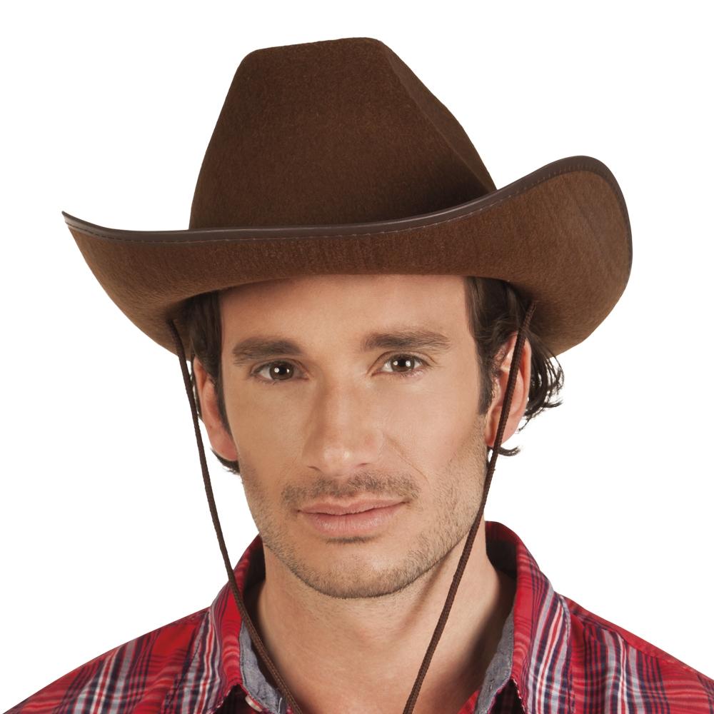 Cowboy hoed Rex vilt bruin