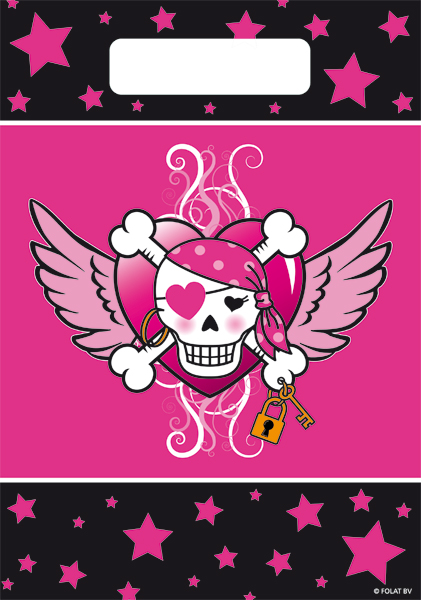 Traktatie zakjes Pirate girl 8 stuks