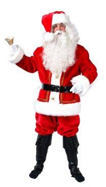 Kerstman pluche luxe (M)