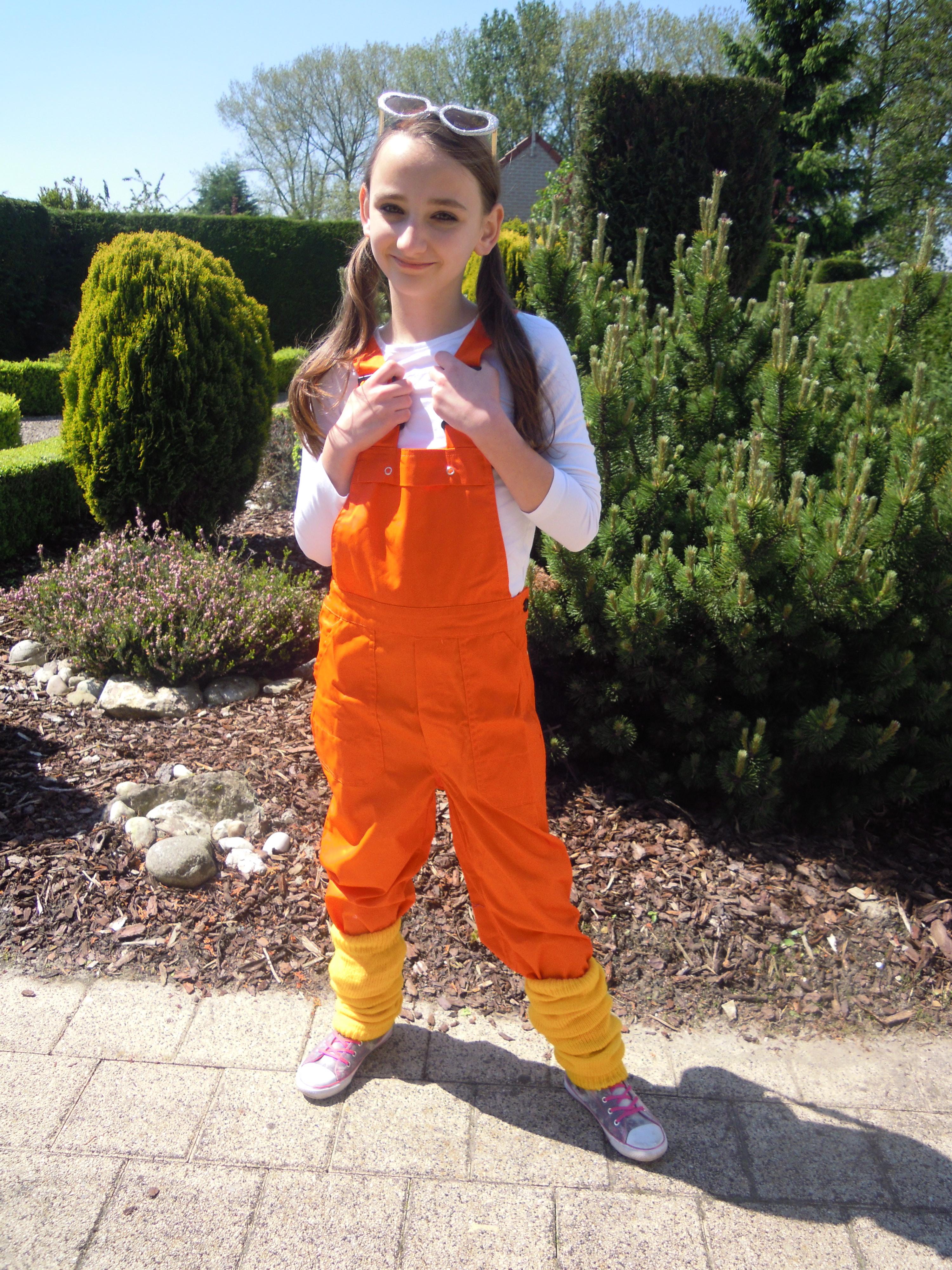 Tuinbroek voor kind oranje