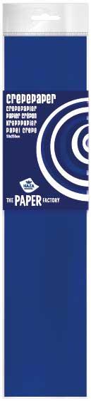 Crepe papier 2,5m midden blauw