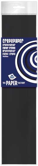 Crepe papier zwart 2,5m
