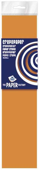 Crepe papier 2,5m neon oranje