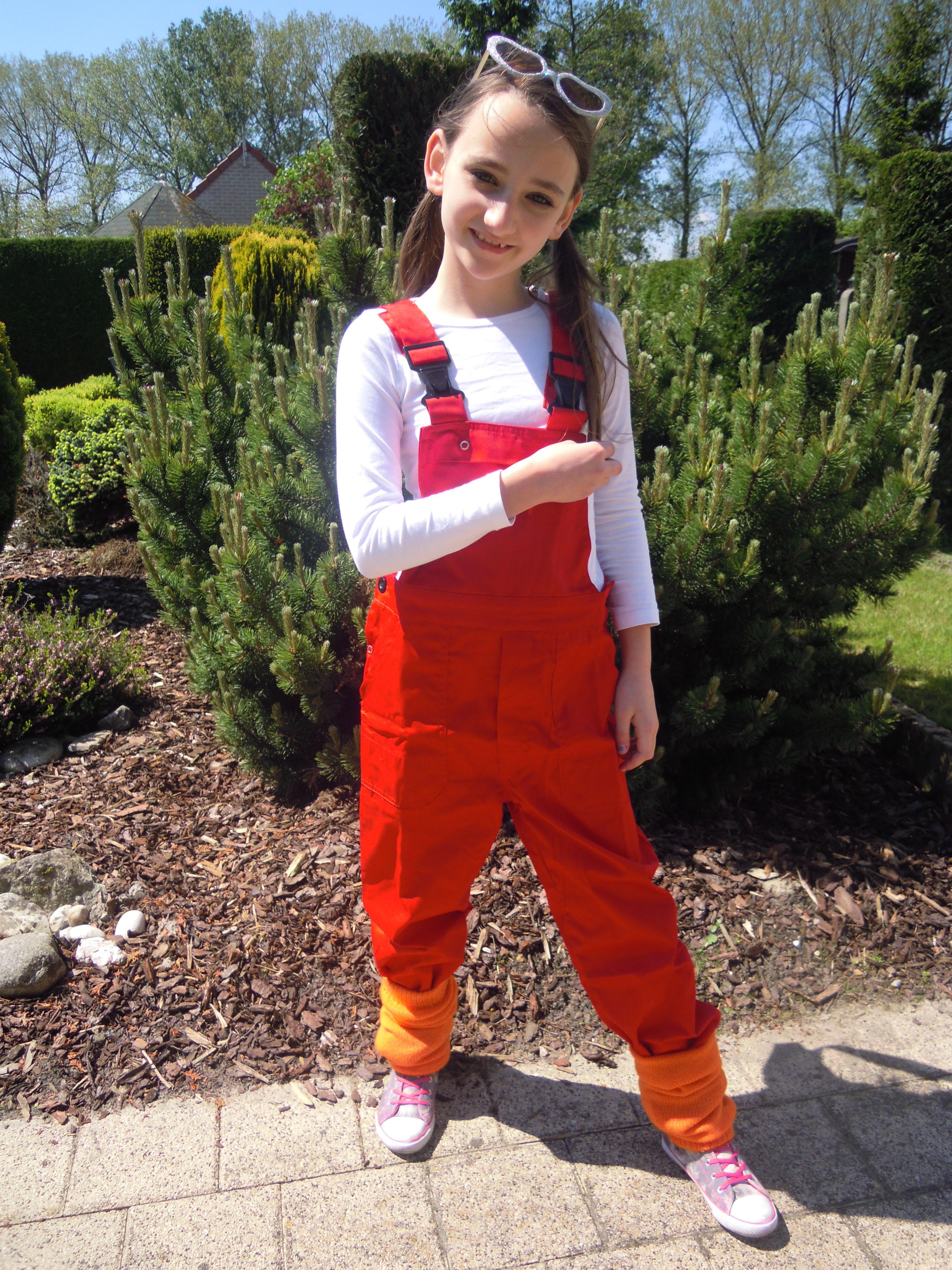 Tuinbroek voor kind rood