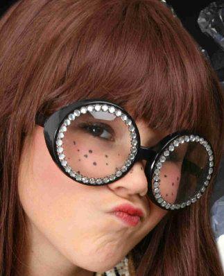Bril rond montuur met strass contour