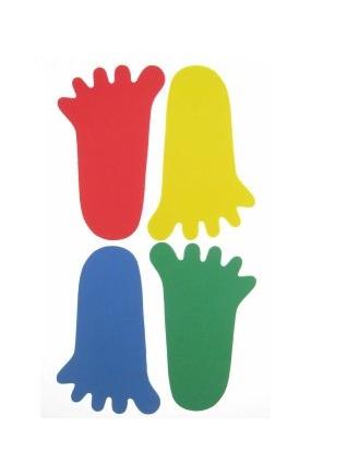 Foam sticker maxi voet 4 stuks