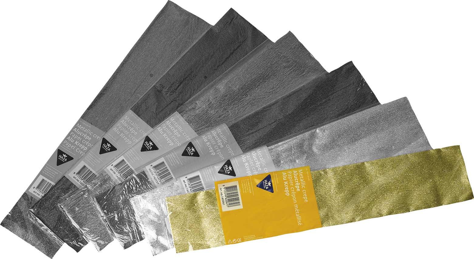 Crêpe aluminium poly 70 gm²/ 150x50 goud