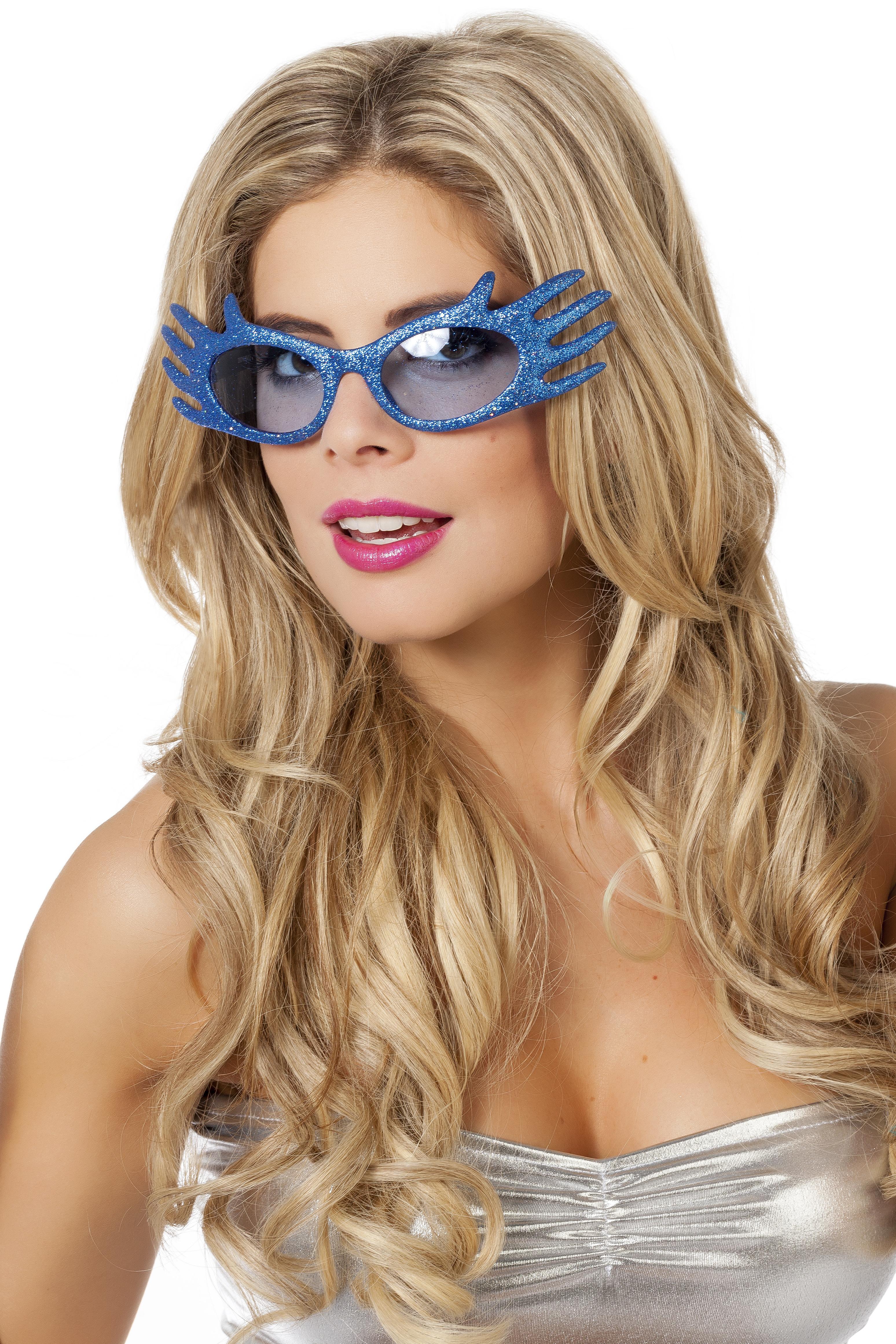 Bril dame edna blauw montuur en glitter