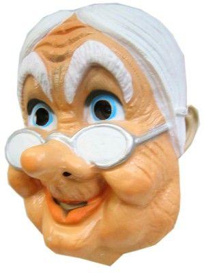 Masker oma met bril