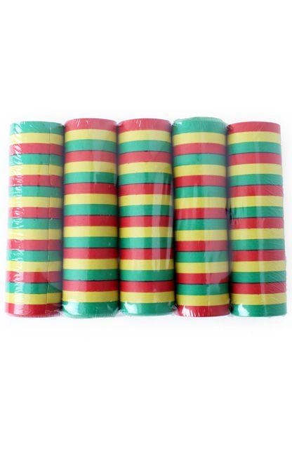 Serpentines 5 rollen rood/geel/groen brandvertragend
