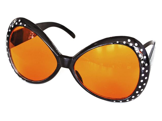 Bril met steentjes zwart