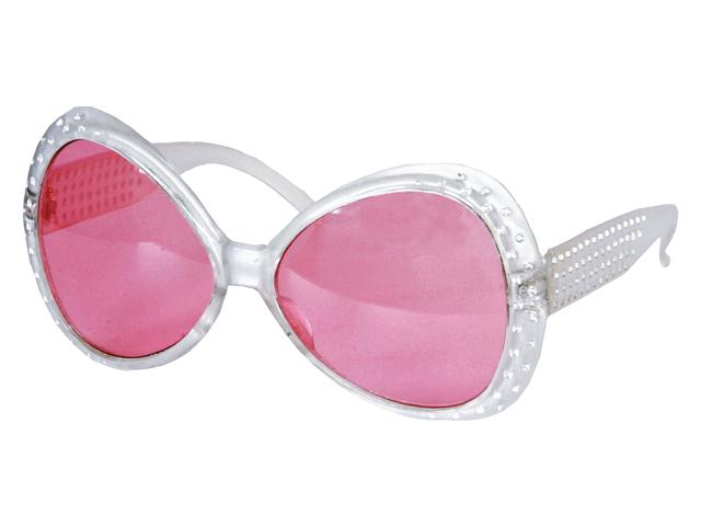 Bril met steentjes zilver