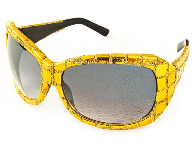 Bril met pailletten goud