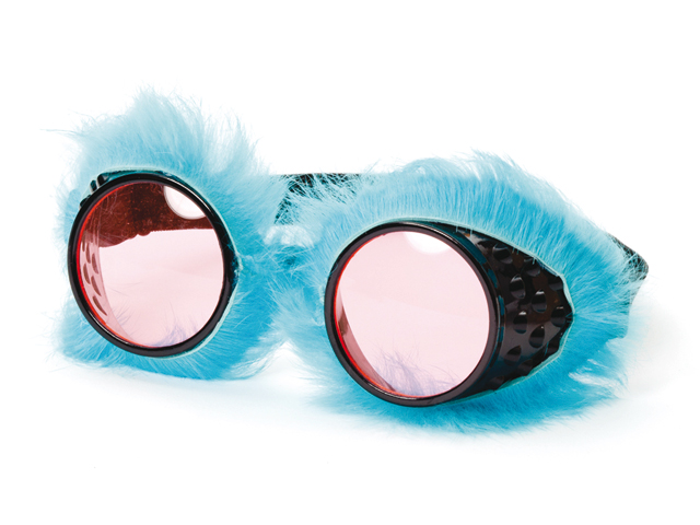 Bril met pluche blauw