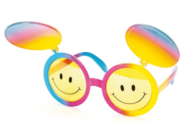 Bril met oogkleppen smiley