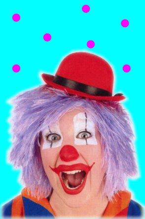 Clowns pruik lila