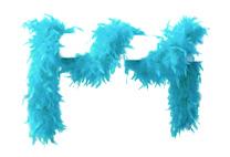 Boa aqua blauw populaire 180cm 60gr