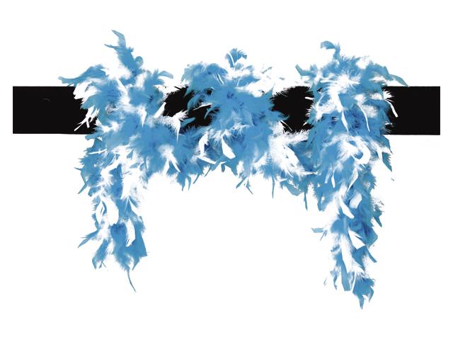 Boa gemeleerd wit/aqua blauw 65gr 180cm