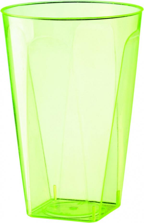 Bekers 21 cl - plastic groen 8 stuks