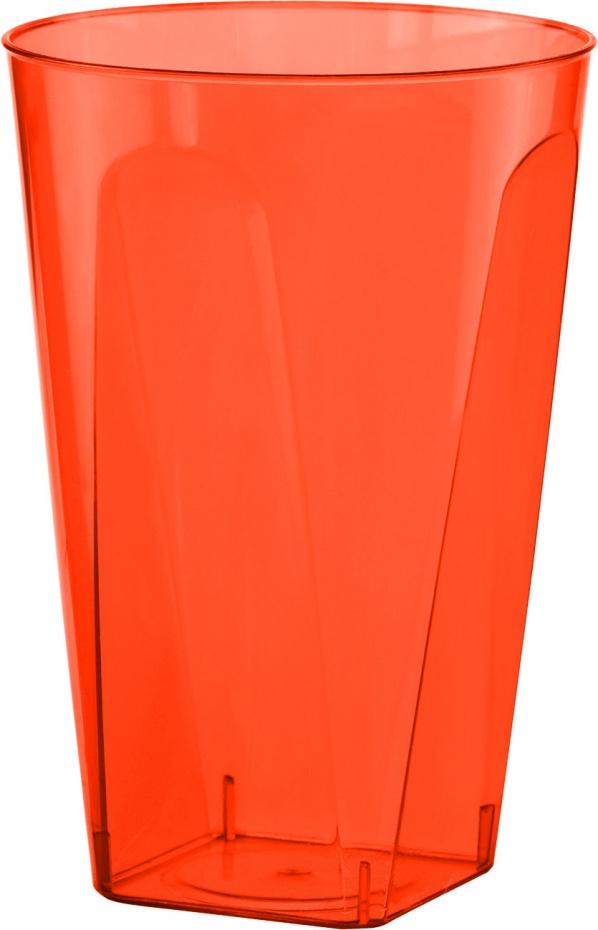 Bekers 21 cl plastic oranje 8 stuks