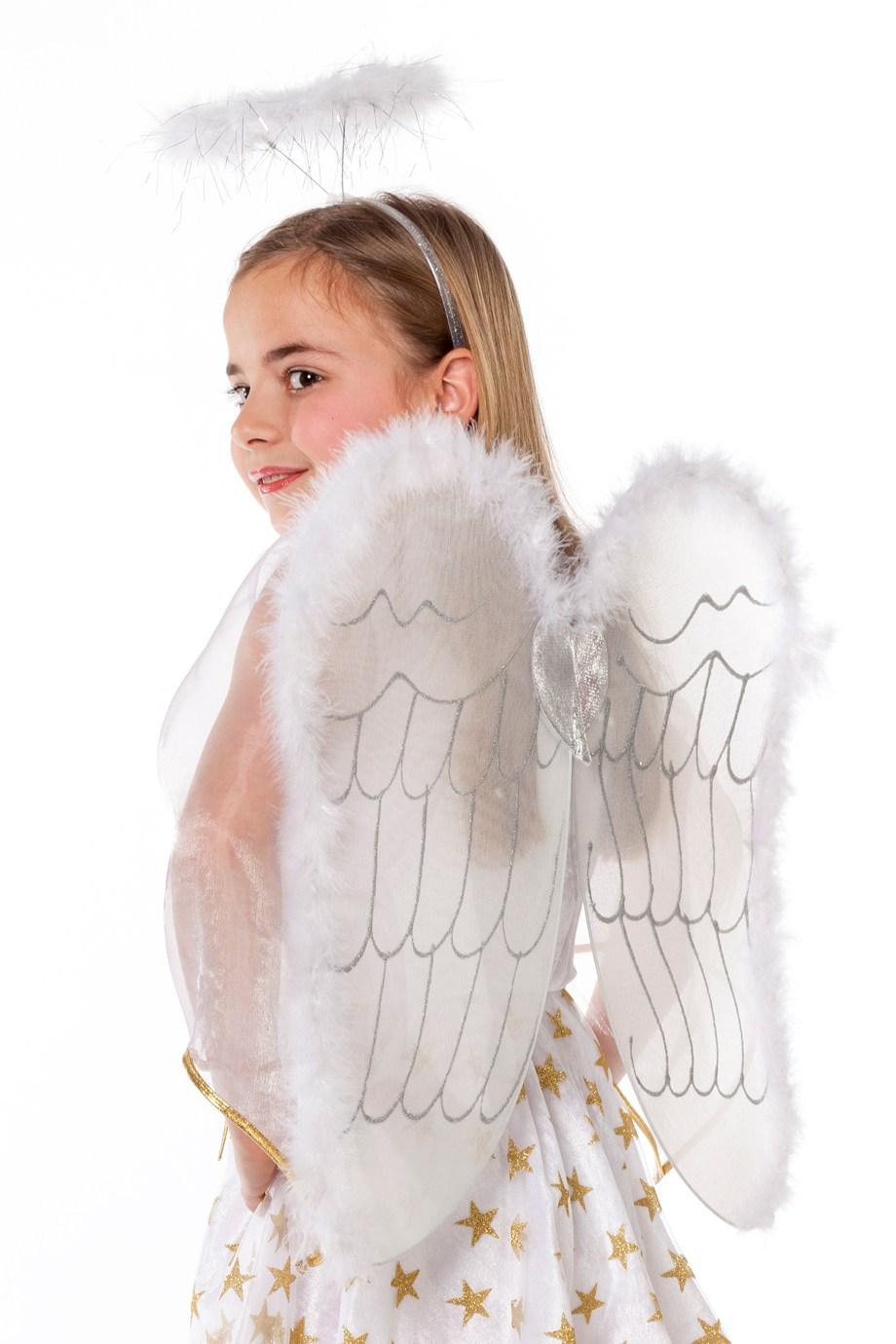 Engelen vleugel met marabou randje