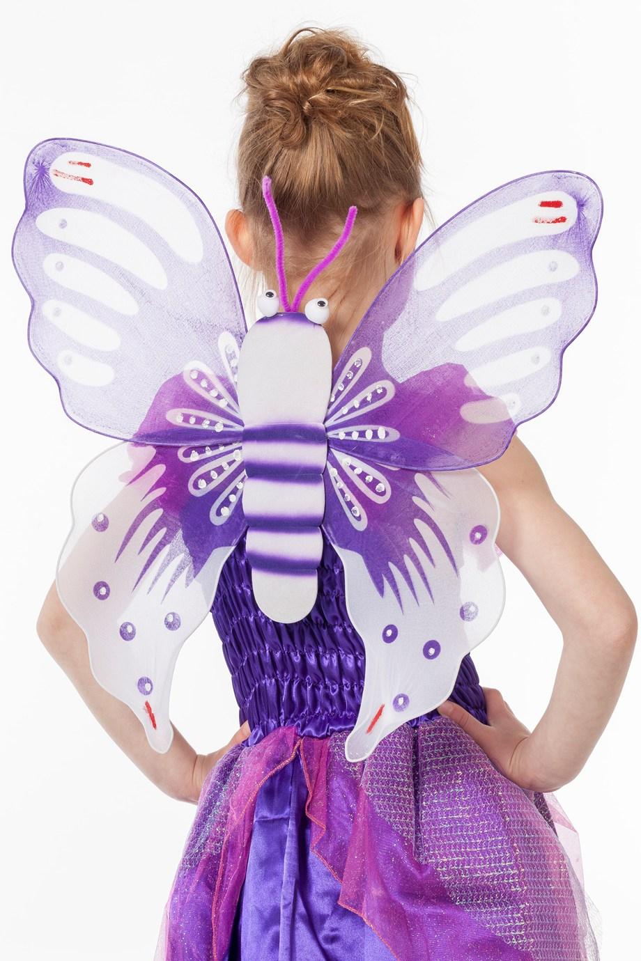 Vlinder vleugels paars voor kind