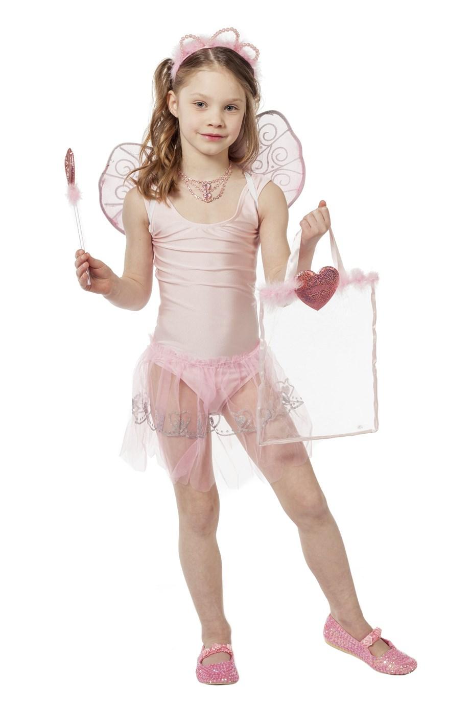 Feeen vleugels roze met rokje voor kind