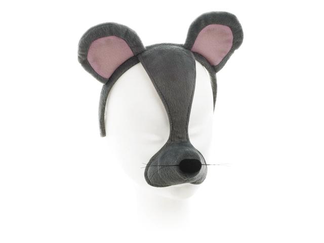 Dierenmasker muis met geluid op diadeem