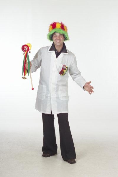 Doktersjas wit katoen voor volwassenen