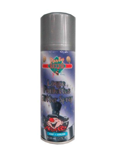 Haar spray glitter zilver 125ml