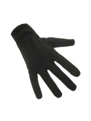 Handschoenen katoen kort zwart maat XXS