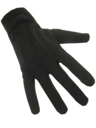 Handschoenen katoen kort zwart maat XXL