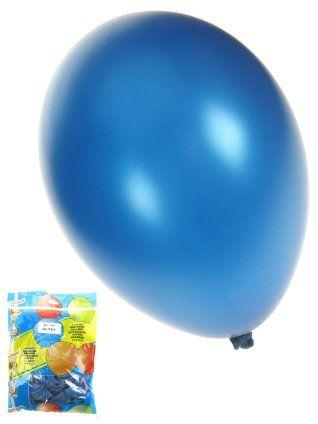 Ballon metallic blauw 50 stuks 36cm