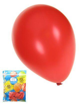 Ballonnen metallic rood 50 stuks 36cm