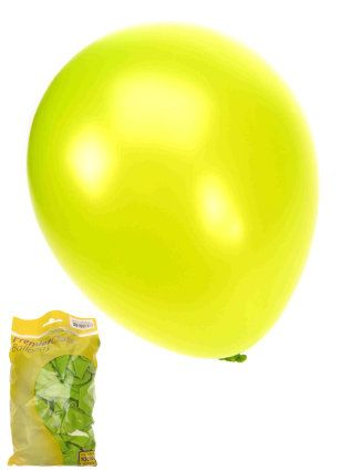 Ballonnen metallic groen 50 stuks 36cm