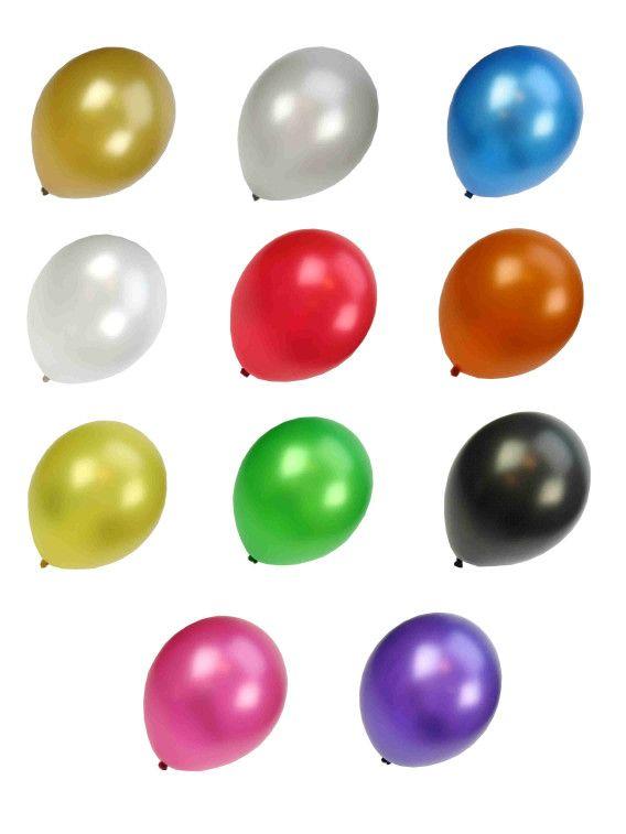 Ballonnen metallic assorti kleuren 50 stuks 36cm