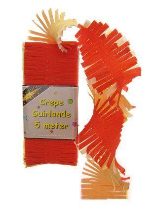 Crepe slinger rood/wit/geel 5m