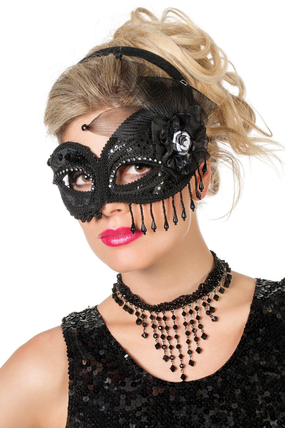 Masker Diva zwart