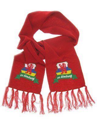 Sjaal rood met wapen limburg