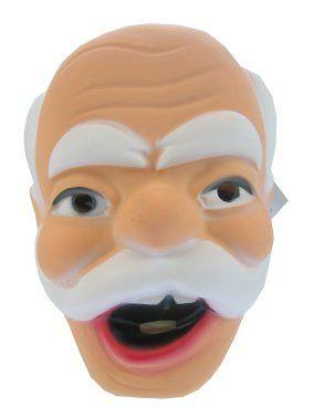 Masker Abraham plastic met snor