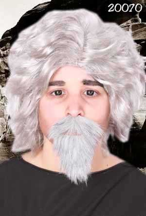 Snor en baard Professor grijs