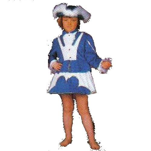 Dansmarieke blauw/wit